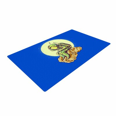 BarmalisiRTB Why in the Cloud Blue/Yellow Area Rug