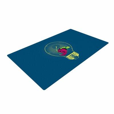 BarmalisiRTB Anglerfish Bulb Blue/Red Area Rug
