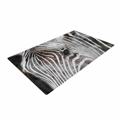 Suzanne Carter Space Zebra Celestial Stripes Black/White Area Rug