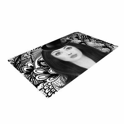 Shirlei Patricia Muniz The Secret of The Hat Urban Photography Black Area Rug Rug Size: 2 x 3