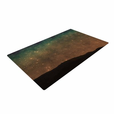 Sylvia Coomes Star Light Teal/Brown Area Rug
