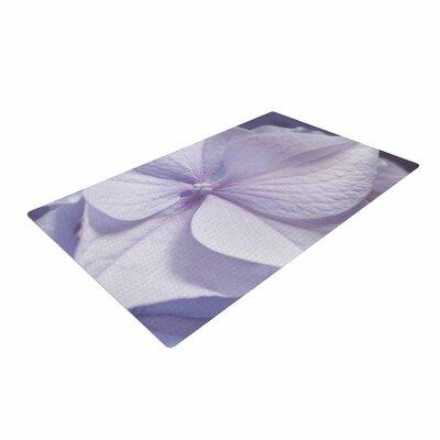 Suzanne Harford Hydrangea Flower Floral Lavender Pastel Purple Area Rug