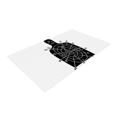 BarmalisiRTB Arch Arrow Target Black/White Area Rug Rug Size: 2 x 3