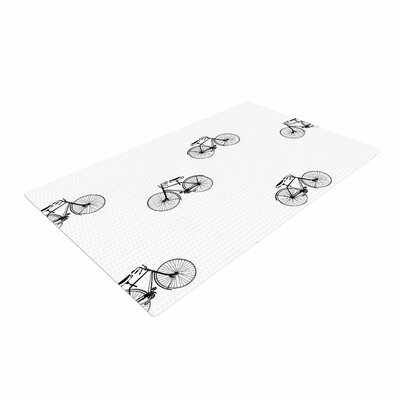 Suzanne Carter Vintage Wheels Black/White Area Rug