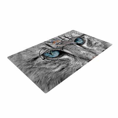 Suzanne Carter Birds Eye View Fantasy Digital Gray/Blue Area Rug