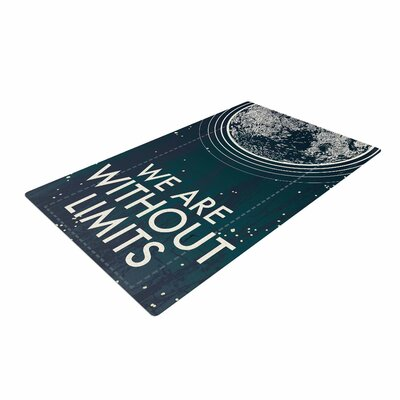 Sam Posnick We are Without Limits Typography Blue Area Rug