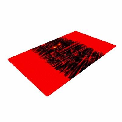 BarmalisiRTB Dark Ninja Black/Red Area Rug