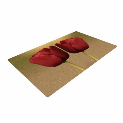 Sylvia Coomes Two of a Kind Floral Red Area Rug