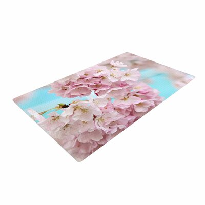 Sylvia Cook A Pastel Spring Floral Pink Area Rug Rug Size: 4 x 6