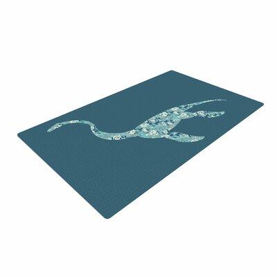 Alias Nessie Teal/White Area Rug Rug Size: 2 x 3