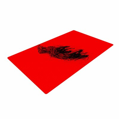 BarmalisiRTB Came From Hell Digital Red Area Rug