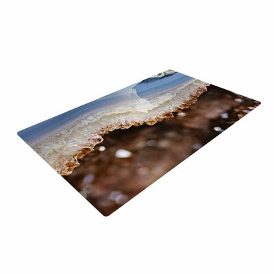 Sylvia Cook Quartz Photography Blue/Brown/Nature Area Rug Rug Size: 4 x 6