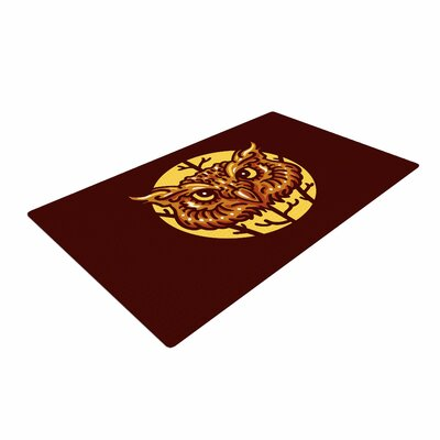 BarmalisiRTB Head Owl Digital Brown Area Rug Rug Size: 2 x 3