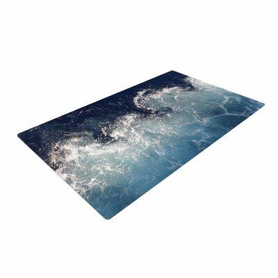 Suzanne Carter Sea Spray Ocean Navy Area Rug