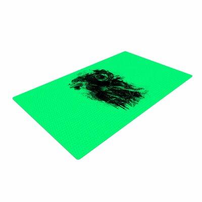 BarmalisiRTB Gasmask Abstract Green/Black Area Rug