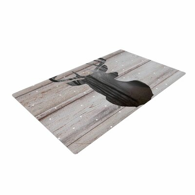 Suzanne Carter the Road - Woodgrain Black/Brown Area Rug Rug Size: 4 x 6