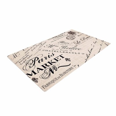 Sylvia Cook French Script Handwriting Brown/Black Area Rug