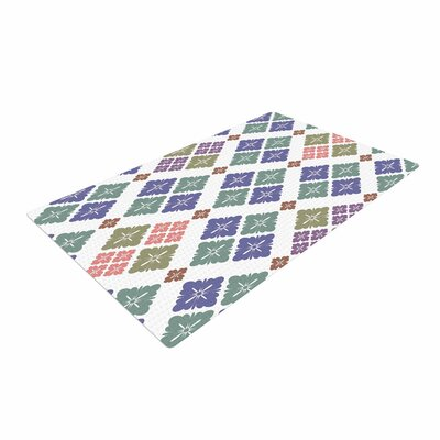 Setsu Egawa Happy Lozenge Blue/Green Area Rug