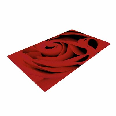 Suzanne Carter Floral Photography Red Area Rug
