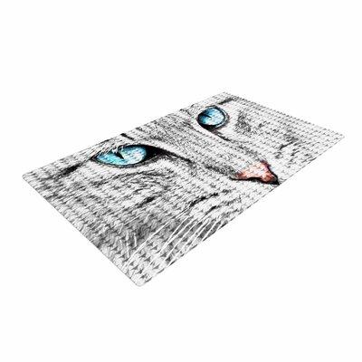 Suzanne Carter Cat Digital Gray Area Rug