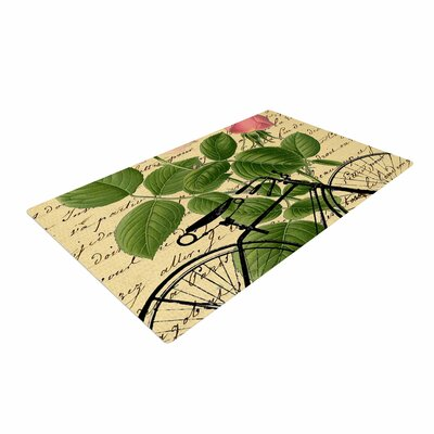 Suzanne Carter Vintage Cycle Floral Beige/Green Area Rug