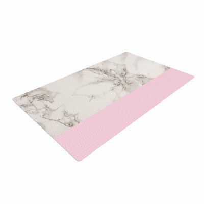 Suzanne Carter Marble and Pink Block Modern Contemporary Pink Area Rug