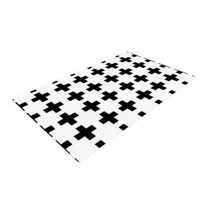 Suzanne Carter Swedish Cross Black/White Area Rug