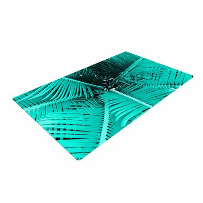 Suzanne Carter Palm Teal/Black Area Rug