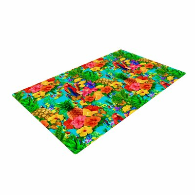 Shirlei Patricia Muniz Tropical Style Nature/Yellow Area Rug Rug Size: 4 x 6