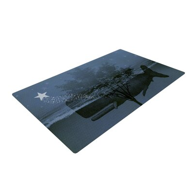 Suzanne Carter Whale Watch Illustration Blue Area Rug