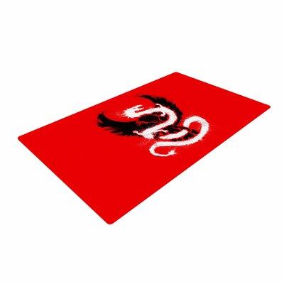 BarmalisiRTB Eagle Dragon Illustration Red Area Rug
