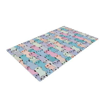 Snap Studio Ferret Wheel Purple/Blue Area Rug Rug Size: 4 x 6
