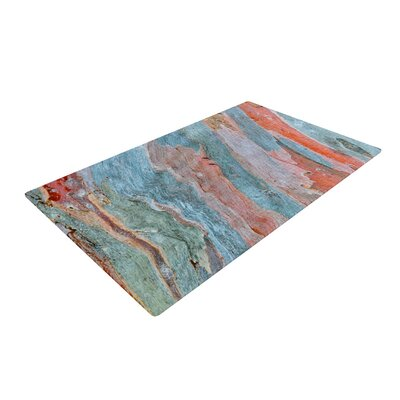 Susan Sanders Beach Dreams Orange/Blue Area Rug Rug Size: 2 x 3