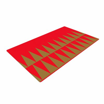 Suzanne Carter Christmas 1 Red/Gold Area Rug