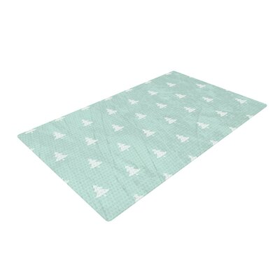 Snap Studio Pine Pattern Blue Area Rug Rug Size: Rectangle 4 x 6
