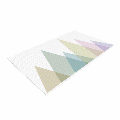 Alias Many Peaks Illustration Pastel Area Rug Rug Size: 2 x 3