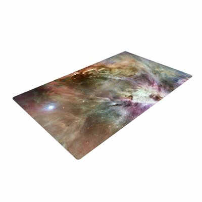Suzanne Carter Orion Nebula Celestial Gray Area Rug