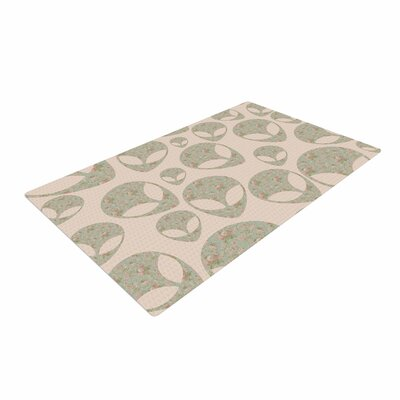 Alias Abducting the Flowers Pink/Green Area Rug Rug Size: 4 x 6