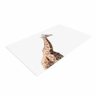 Sylvia Coomes Giraffe Animals Photography White/Brown Area Rug