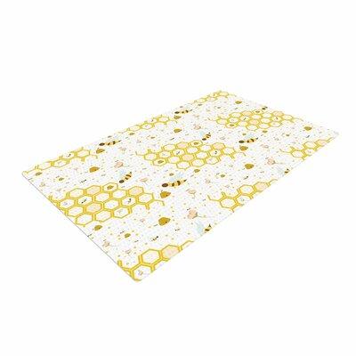 Stephanie Vaeth Honey Bees White/Yellow Area Rug
