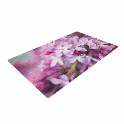 Sylvia Cook French Lilacs Photography Purple Area Rug Rug Size: 2 x 3