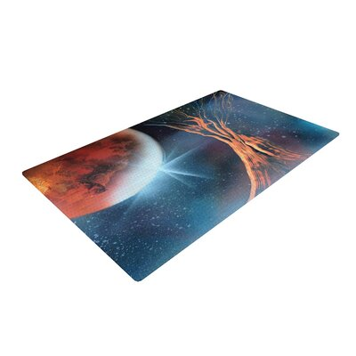 Infinite Spray Art Embark Nature Blue Area Rug Rug Size: 2 x 3