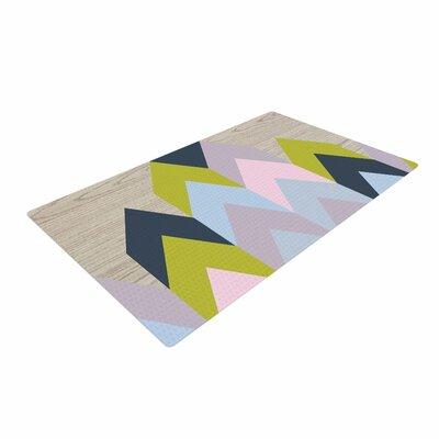 Suzanne Carter Woodgrain Geometric Beige/Blue/Green Area Rug Rug Size: 4 x 6