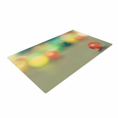 Sylvia Coomes Marble Bokeh Abstract Multicolor Area Rug