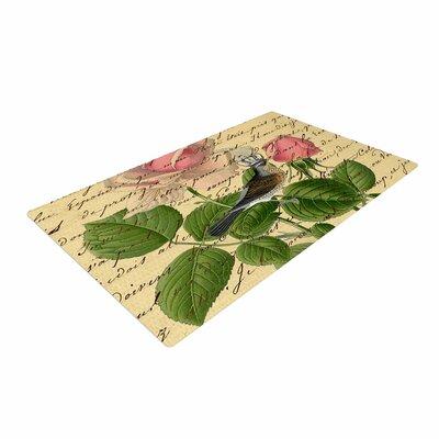 Suzanne Carter Vintage Dream Floral Script Beige/Green Area Rug