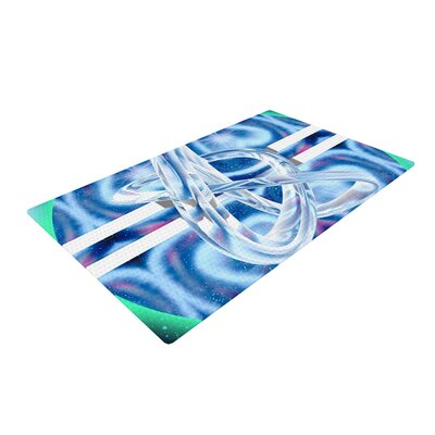 Infinite Spray Art New Era Blue/Green Area Rug Rug Size: 2 x 3