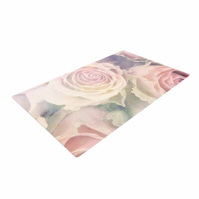 Suzanne Carter Faded Beauty Floral Blush Area Rug
