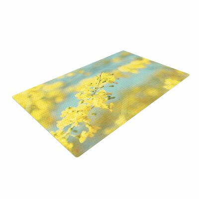 Sylvia Coomes Blooms 2 Blue/Yellow Area Rug