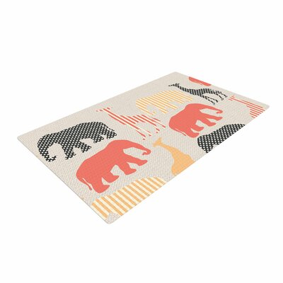 Suzanne Carter Zoo Beige/Coral Area Rug