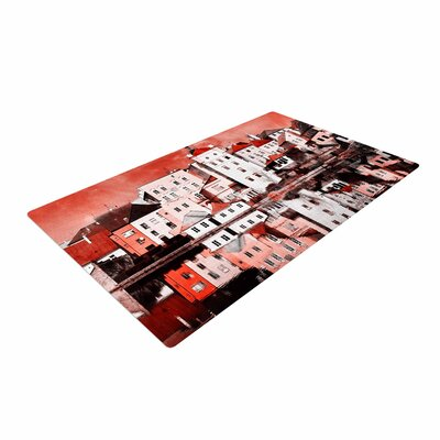 Suzanne Carter Red Sky at Night Red/White Area Rug
